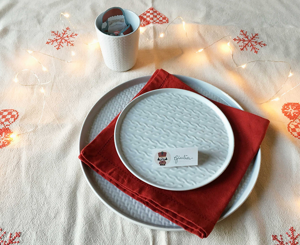 Twelve Days of Christmas - Freebies - Segnaposto - www.ConfettiMood.com