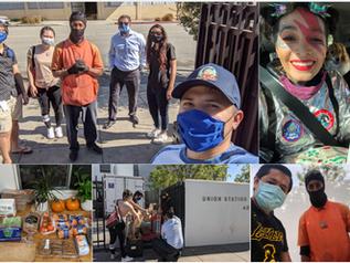 Union Station Homeless Services Sack Lunch Program Volunteering - October 31, 2020