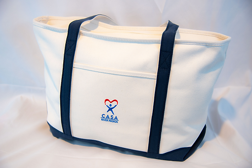 Large Heavyweight Cotton Canvas Boat Tote