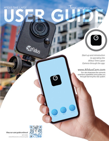 Afidus App and user guide to starting your first timelapse