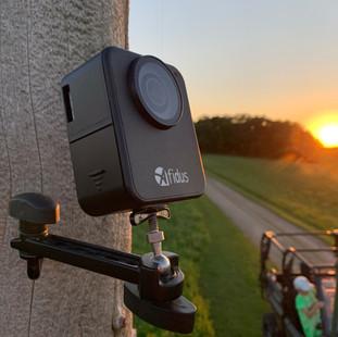 Long arm trail camera mount