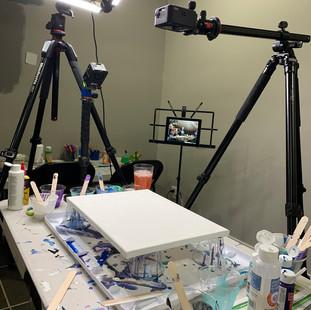 Art studio on tripods