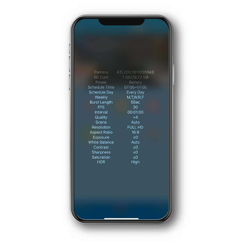 Afidus Information Screen.