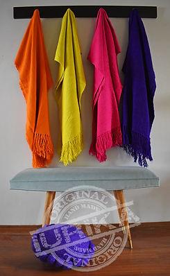 Mantas de lana de llama