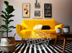 Sillón Góndola Doble Yellow