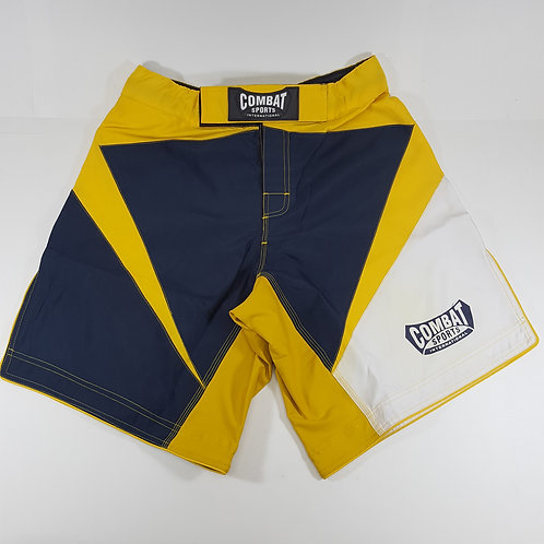 Blue and Gold MMA Combat Shorts
