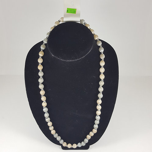 Grey & Pearl Beaded Necklace