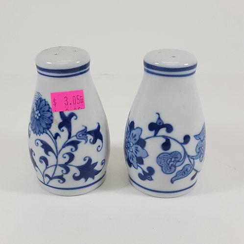 Pier 1 China - Blue & White Salt & Pepper Shaker Set