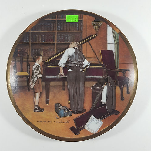 """Norman Rockwell Collectible Plate - """"The Piano Tuner"""""""