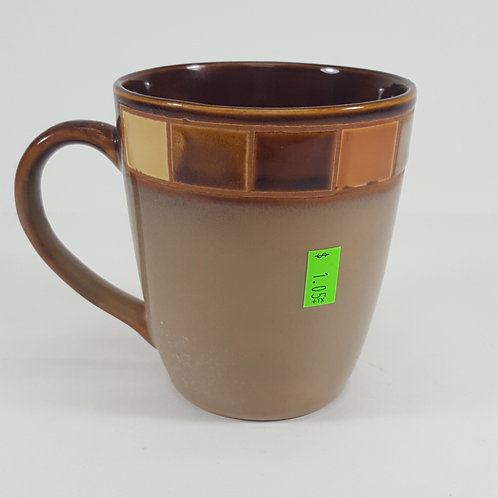 Elite Brand Brown Mug With Rectangles