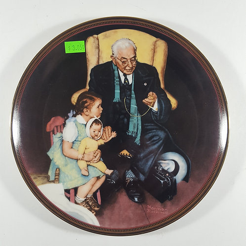 """Norman Rockwell Collectible Plate - """"Tender Loving Care"""""""