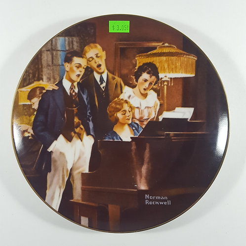 """Norman Rockwell Collectible Plate - """"Close Harmony"""""""