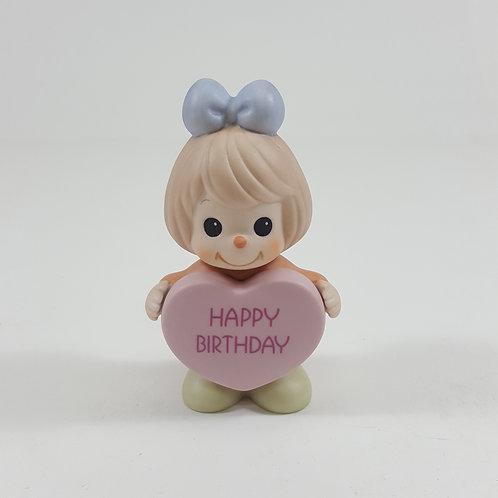 Happy Birthday Figurine - Girl