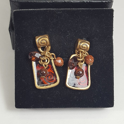 Chicos Brand Gold Earrings