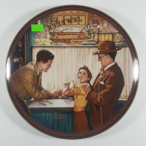 "Norman Rockwell Collectible Plate - ""A Time To Keep"""