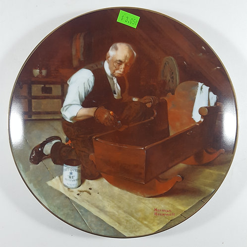 """Norman Rockwell Collectible Plate -""""Grandpa's Gift"""""""