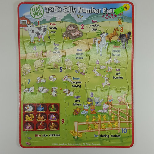 Leap Frog Tad's Silly Number Farm -- Board Puzzle