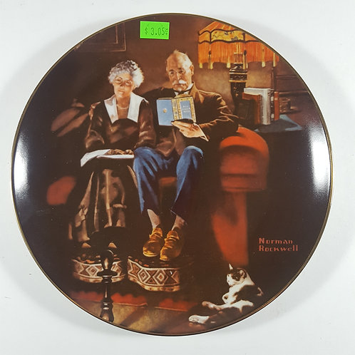 "Norman Rockwell Collectible Plate - ""Evening Ease"""