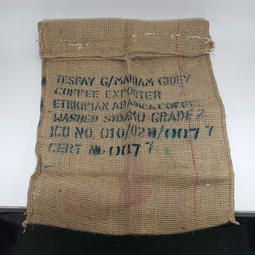 Ethiopian Arabica Coffee Burlap Sack