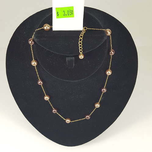 Gold & Bronze Necklace