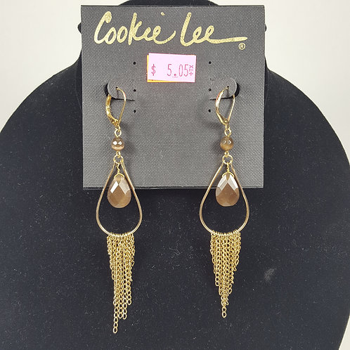 Cookie Lee Matte Gold Hoops
