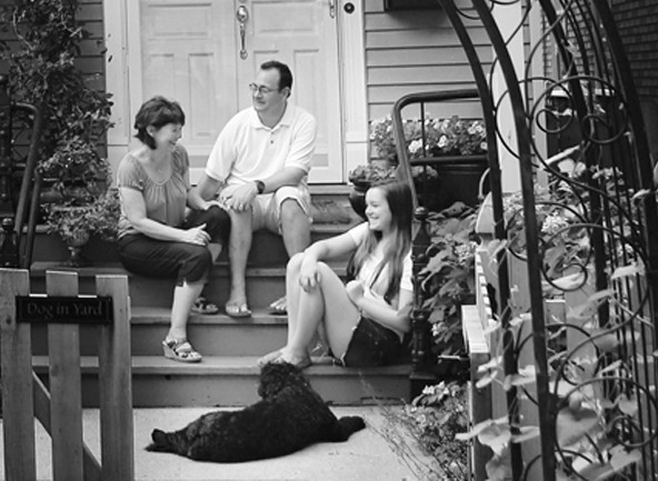on the porch_BW_edited