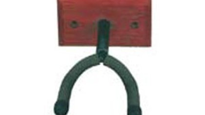 Soundsation guitar wall stand with wood plate deep cradle design