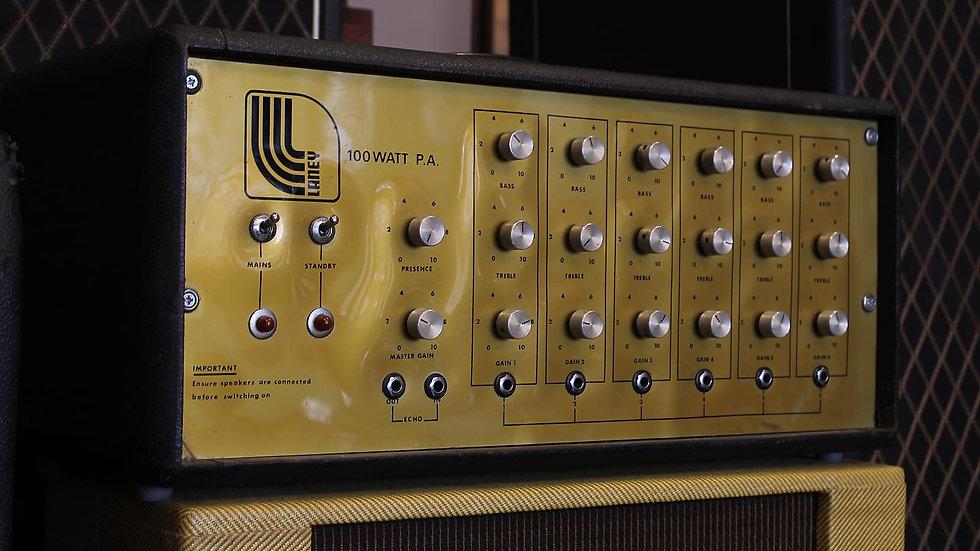 1972 Laney PA100 all-valve *partridge Transformers!