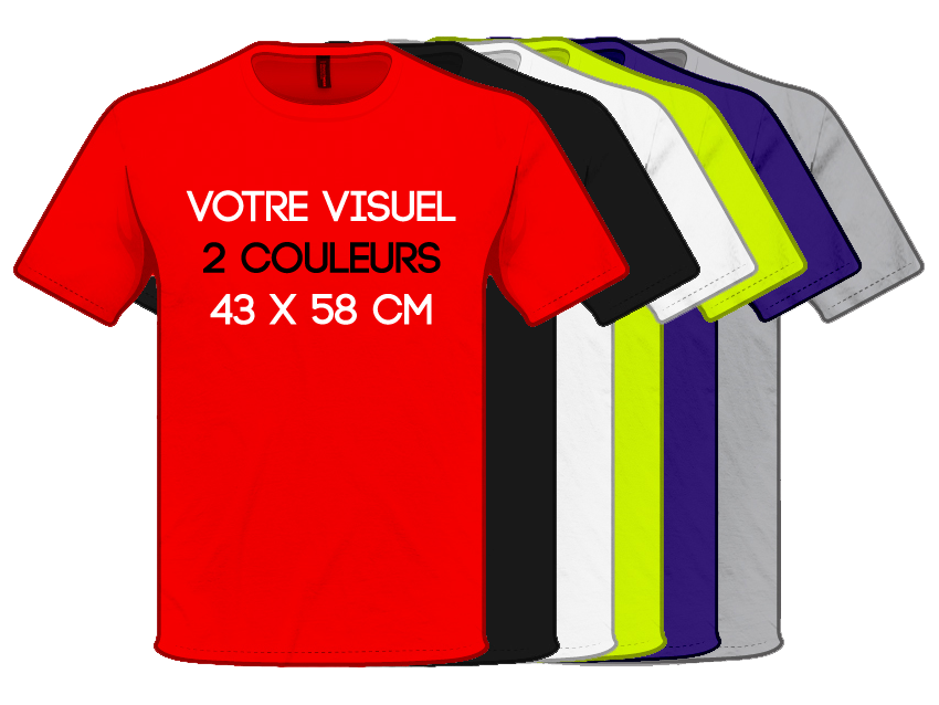 T SHIRTS - Print 2 Couleurs