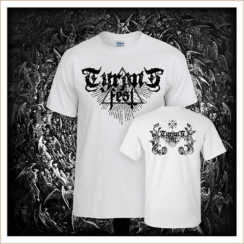 TYRANT FEST / T SHIRT ♂ Classic Logo Noir