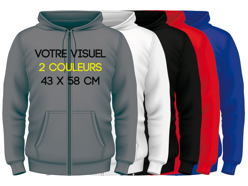ZIPPED HOODIES / 2 couleurs