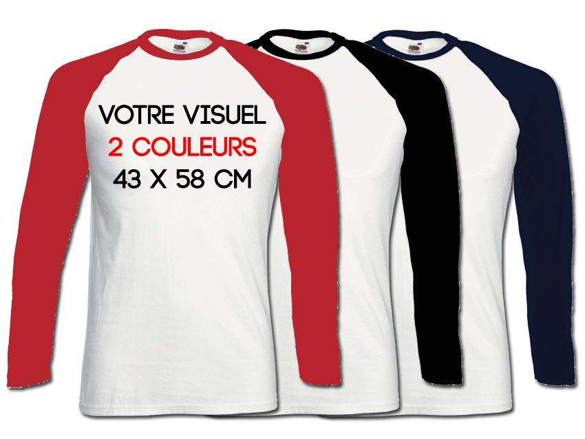 BASE BALL LS - 2 couleurs