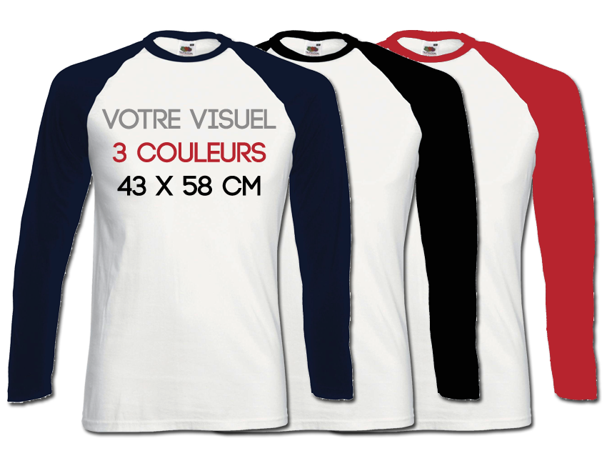 BASE BALL LS - 3 couleurs