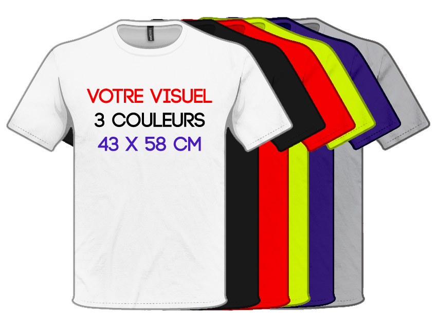 T SHIRTS - Print 3 Couleurs