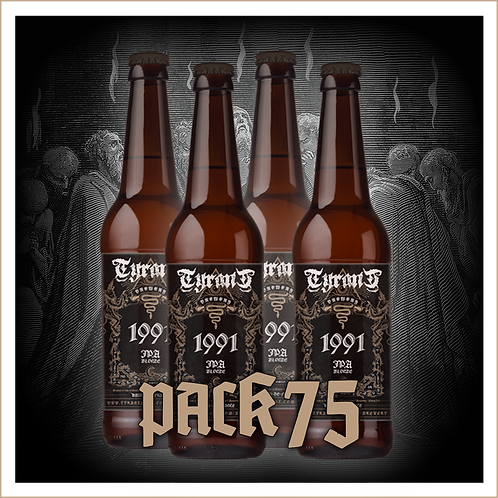 TYRANT BREWERY - 1991 Pack 4 x 75 cl + 2 Gobelets