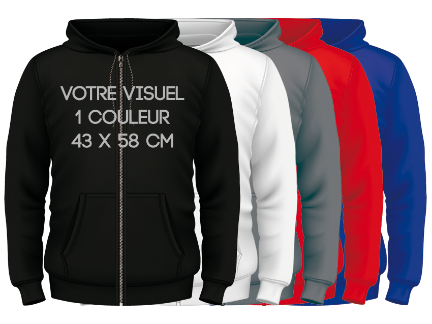 ZIPPED HOODIES / 1 couleur
