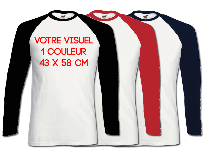 BASE BALL LS - 1 couleur