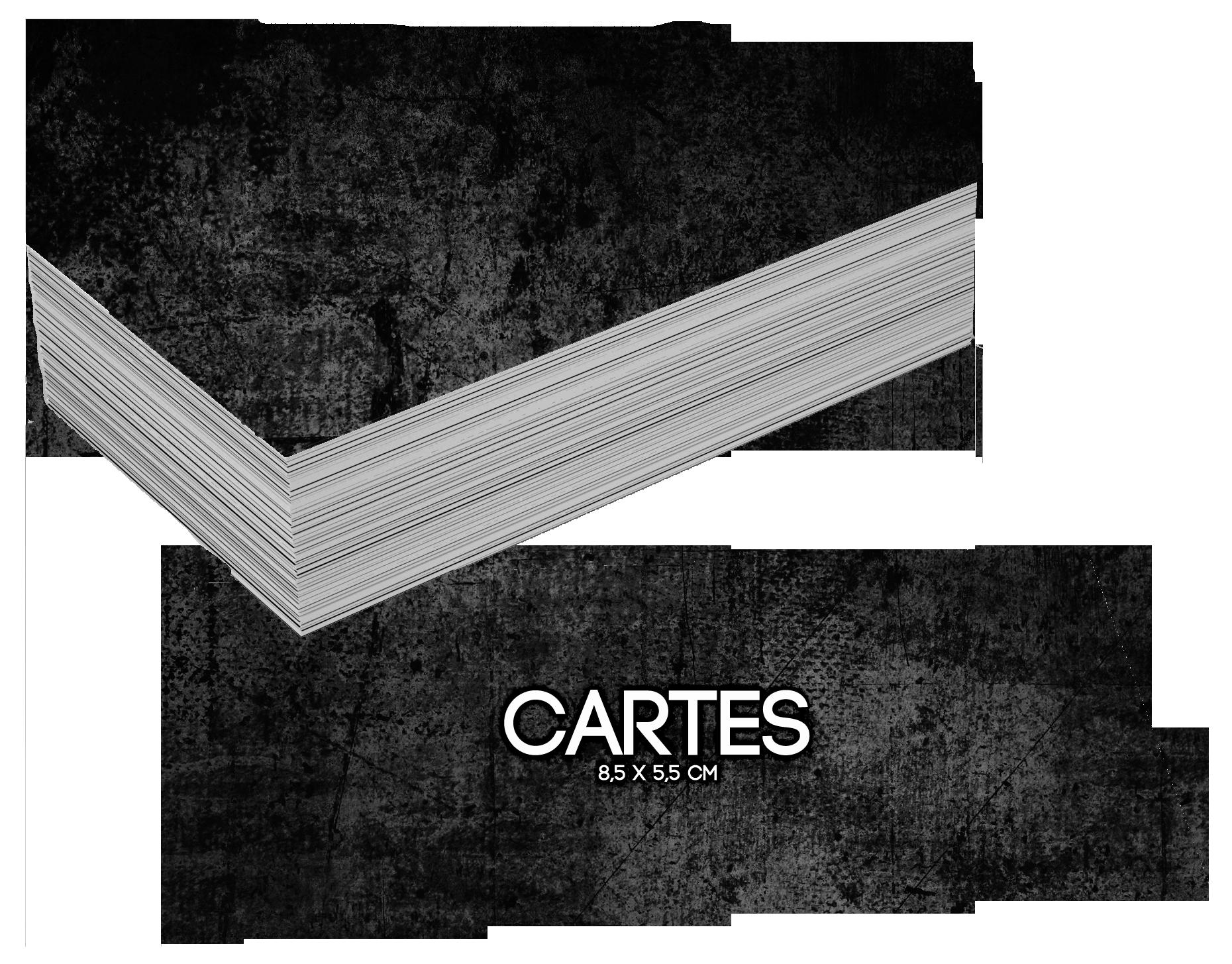 CARTES / 8,5 x 5,5