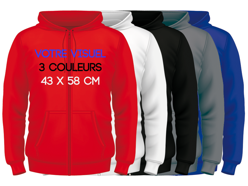 ZIPPED HOODIES / 3 couleurs