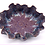 Thumbnail: Purple Lace-Embossed Stoneware Wave Bowl - only 1 available