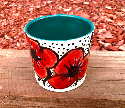 """""""Poppy"""" Stoneware Tumbler - only 1 available"""
