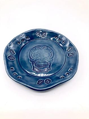 Blue Skull Trinket Dish