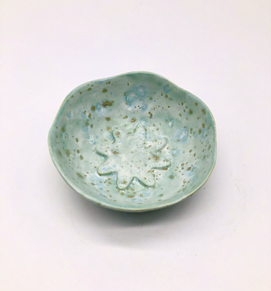 Small Light Blue Speckled Bowl