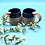 Thumbnail: Pair of Deep Blue and Tan Stoneware Mugs - only 1 pair available