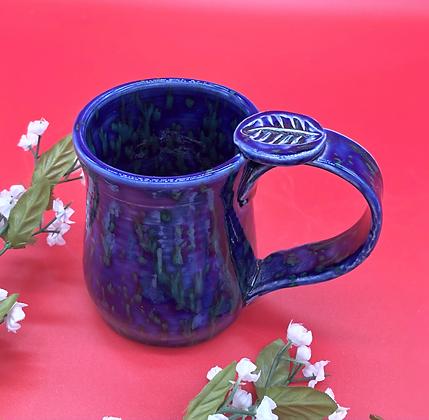Royal Blue Mug withThumb Rest