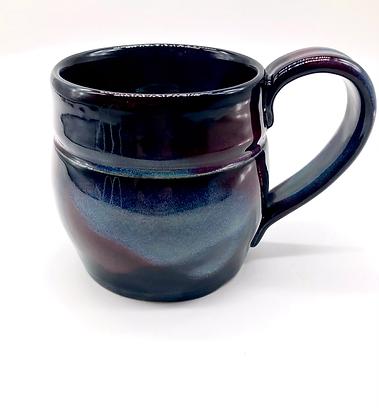 Beautiful Black, Blue, Purple Stoneware Mug
