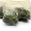 Thumbnail: Green Lace-Embossed Stoneware Wave Bowl - only 1 available