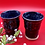 Thumbnail: Pair of Black Stoneware Tumblers with Tan Bursts of Crystals - only 1 set availa