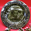 Thumbnail: Beautiful Dark Green Platter with Embossed Leaves - Only one available