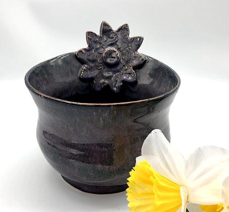 Unique Purple Stoneware Bowl/Vase - only 1 available